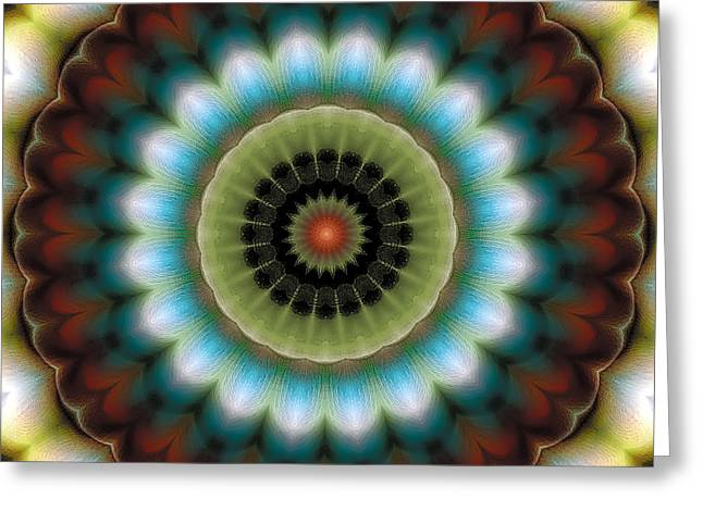 Relaxing Greeting Cards - Mandala 99 Greeting Card by Terry Reynoldson