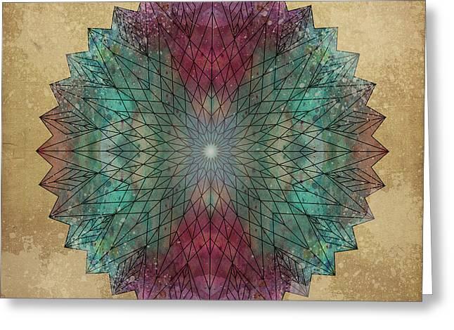 Mandala Crystal Greeting Card by Filippo B