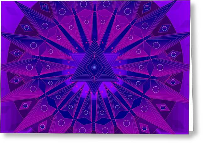 Greeting Cards For Cancer Greeting Cards - Mandala for Ca Symptoms Greeting Card by Sarah  Niebank
