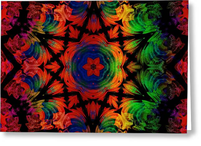 Abstract Digital Mixed Media Greeting Cards - Mandala for meditation Greeting Card by Montsedesign Art
