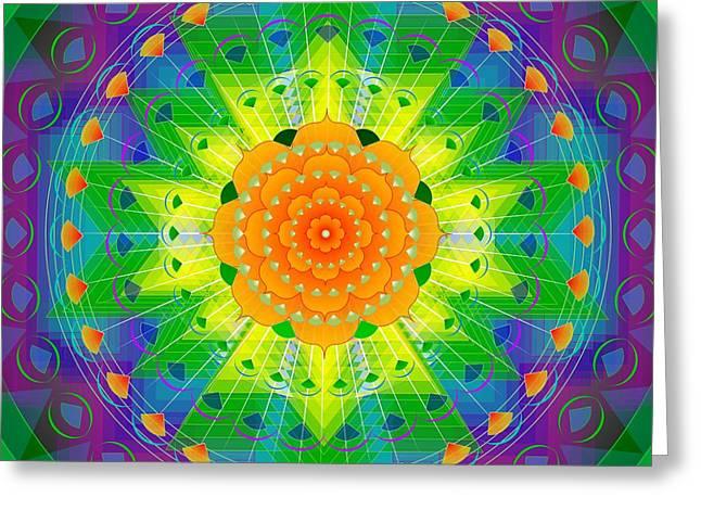 Metaphysics Greeting Cards - Mandala for Personal Healing Greeting Card by Sarah  Niebank