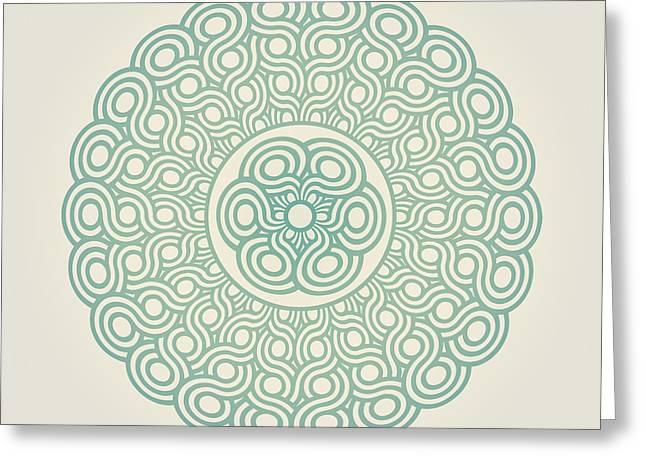 Interwoven Greeting Cards - Mandala  Greeting Card by Igor Kislev