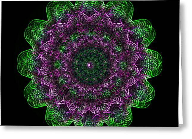 Chakra Rainbow Digital Greeting Cards - Mandala Perfection Greeting Card by Sarah  Niebank
