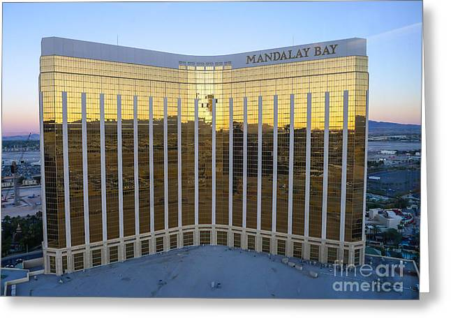 Famous Cities Greeting Cards - Mandalay Bay Resort and Casino Greeting Card by Edward Fielding