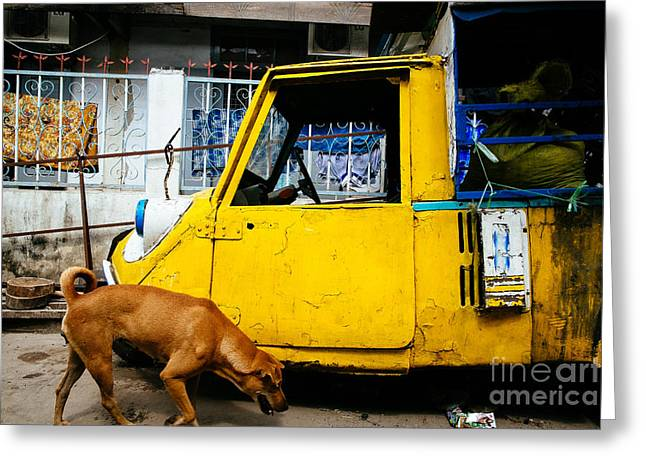 Stray Greeting Cards - Mandalay Street Scene Greeting Card by Dean Harte