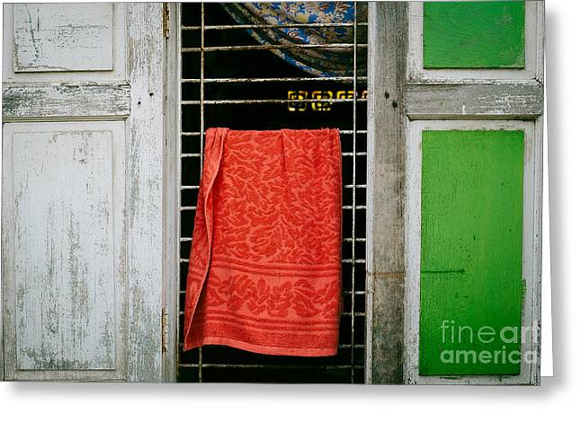 Mandalay Window Scene Greeting Card by Dean Harte