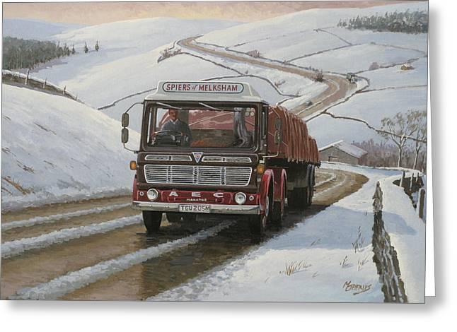 Lorries Greeting Cards - Mandator on Shap. Greeting Card by Mike  Jeffries