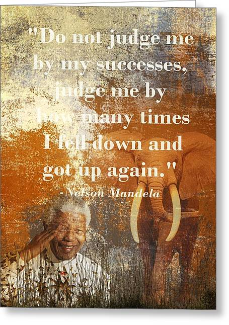 Mandela 2 Greeting Card by Sharon Lisa Clarke