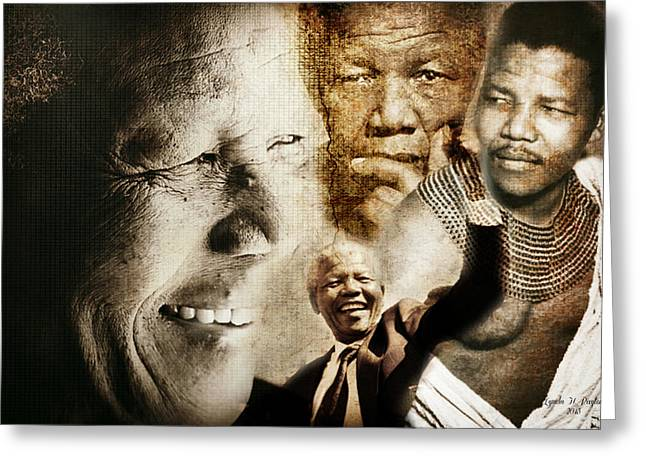 African Greeting Greeting Cards - Mandela Journey Greeting Card by Lynda Payton