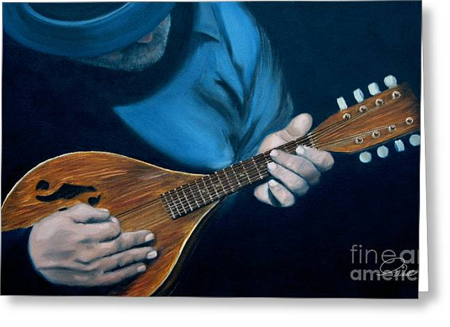 Andrew Wells Greeting Cards - Mandolin Greeting Card by Andrew Wells
