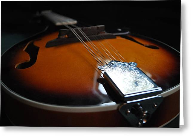 Mandolin Greeting Cards - Mandolin Dreams Greeting Card by Everett Bowers