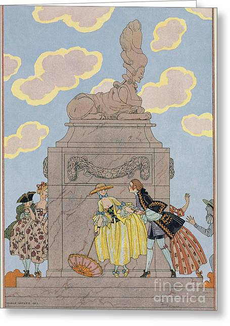 Mandoline Greeting Card by Georges Barbier