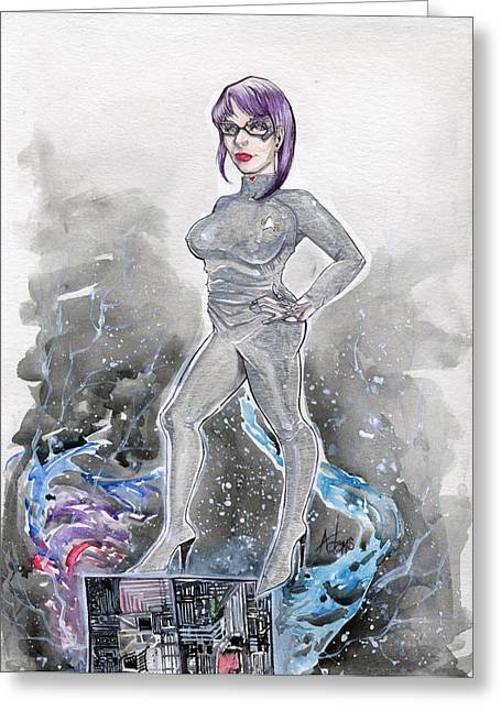 Voyager Drawings Greeting Cards - Mandy Seven of Nine Greeting Card by Jimmy Adams