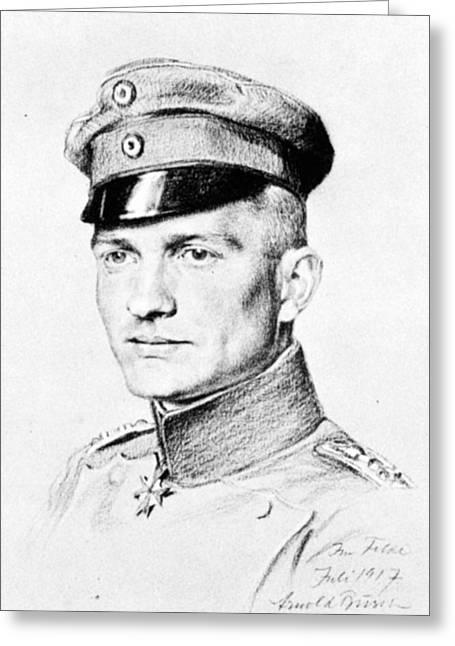 Manfred Von Richthofen (1892-1918) Greeting Card by Granger