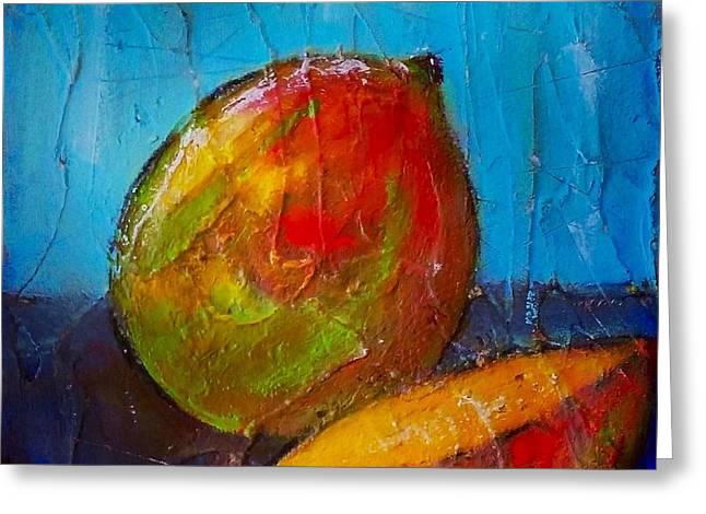 Mango Greeting Cards - Mango 57 Greeting Card by Vickie Scarlett-Fisher