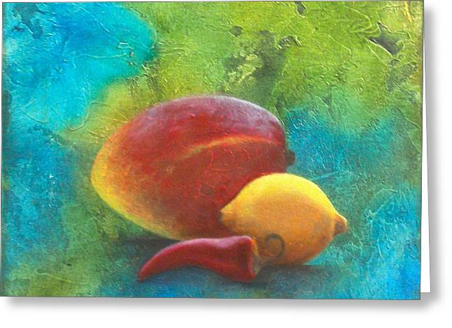 Mango Paintings Greeting Cards - Mango Greeting Card by Allyn Butler