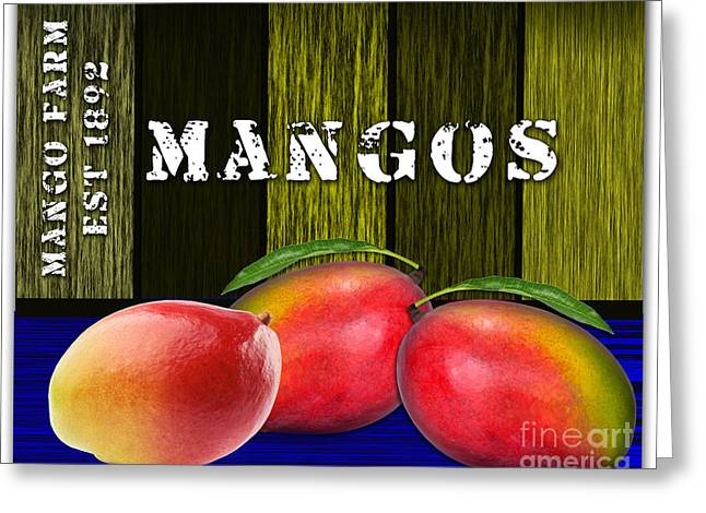 Mango Mixed Media Greeting Cards - Mango Farm Greeting Card by Marvin Blaine