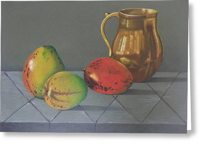 Mango Greeting Card by Lina Velez