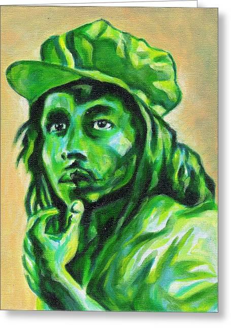 Bob Marley Artwork Greeting Cards - Mango Marley Greeting Card by Paul Smutylo