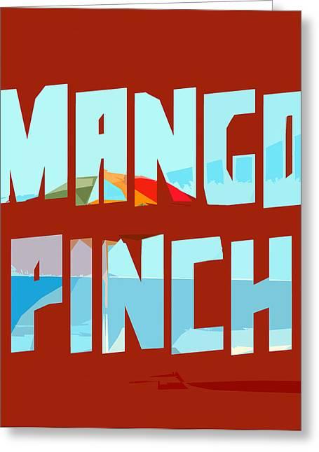 Mango Greeting Cards - Mango Pinch Greeting Card by Gustav Boye