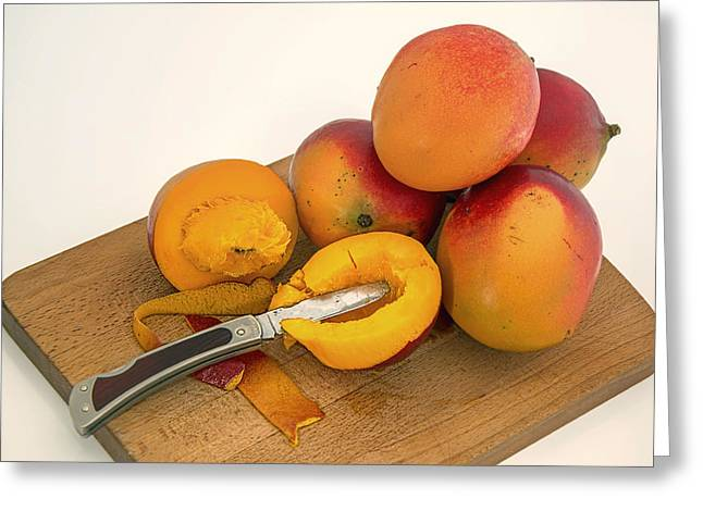 Mango Photographs Greeting Cards - Mango - The Tropical Fruit Greeting Card by Mountain Dreams