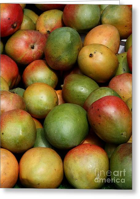 European Markets Greeting Cards - Mangoes Greeting Card by Carol Groenen