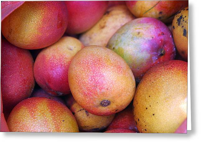 Mango Greeting Cards - Mangoes Greeting Card by Lenny Furman