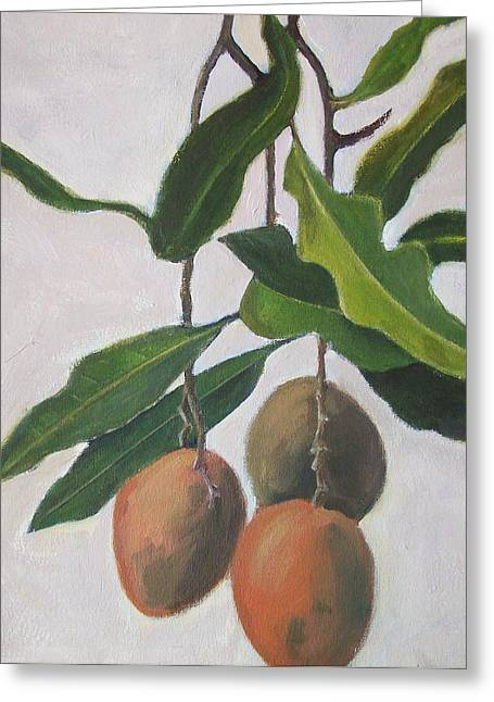 Mango Greeting Cards - Mangoes Greeting Card by Mary Adam