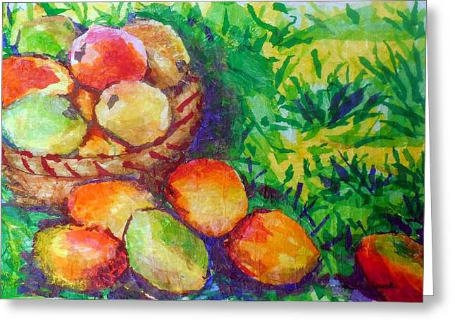 Mango Greeting Cards - Mangoes Greeting Card by Suzanne  Frie