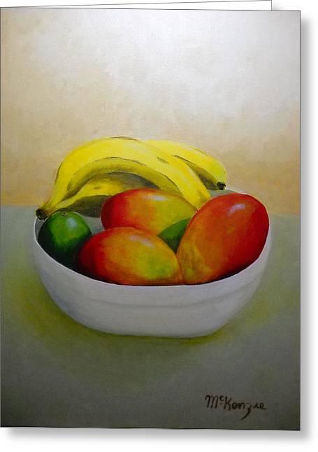 Mango Greeting Cards - Mangos and Bananas Greeting Card by Robb McKenzie