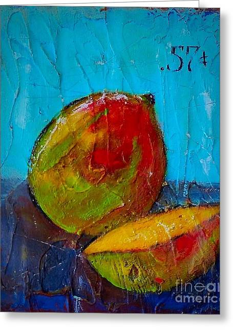 Mango Greeting Cards - Mangos Fifty Seven Greeting Card by Vickie Scarlett-Fisher