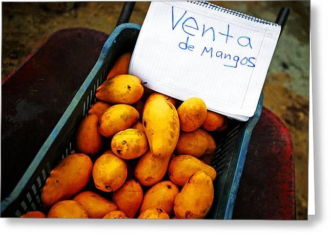Mango Greeting Cards - Mangos Sale Greeting Card by Emilio Lopez