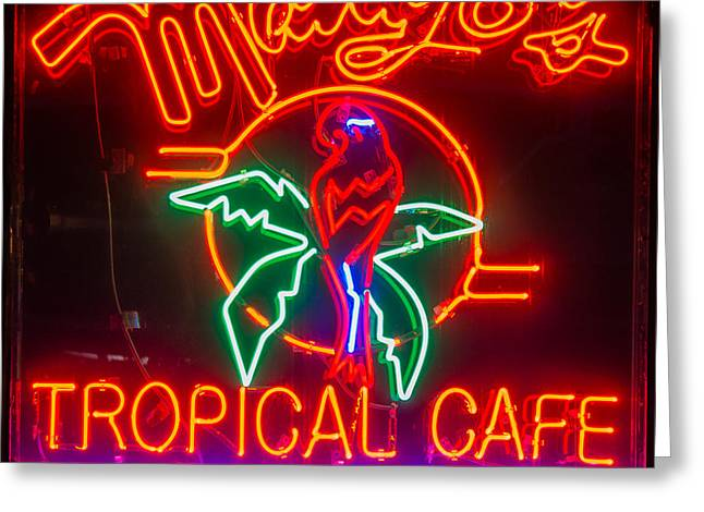 Mango's South Beach Miami - Square Greeting Card by Ian Monk