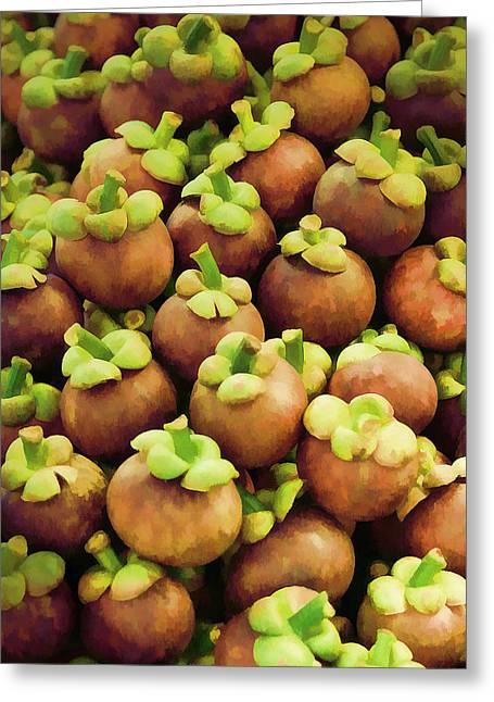 Mangosteen Greeting Cards - Mangosteen Greeting Card by Patt Wattanasupt