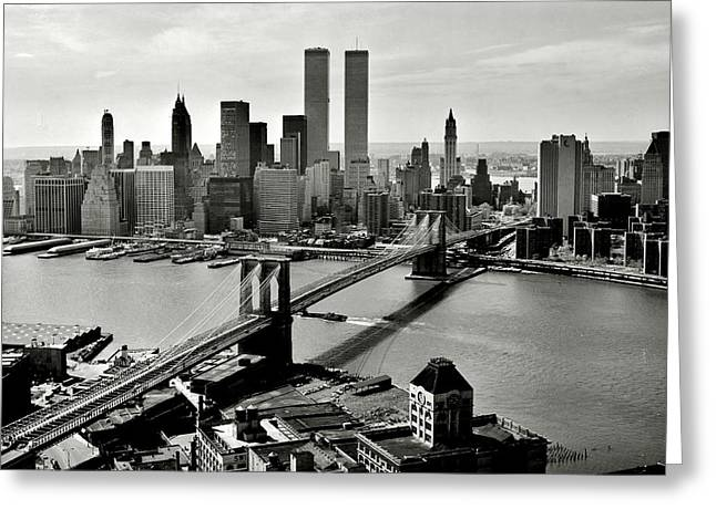 Manhattan 1978 Greeting Card by Benjamin Yeager