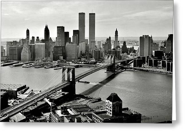 Manhattan 1978 Greeting Card by Benjamin Yeager
