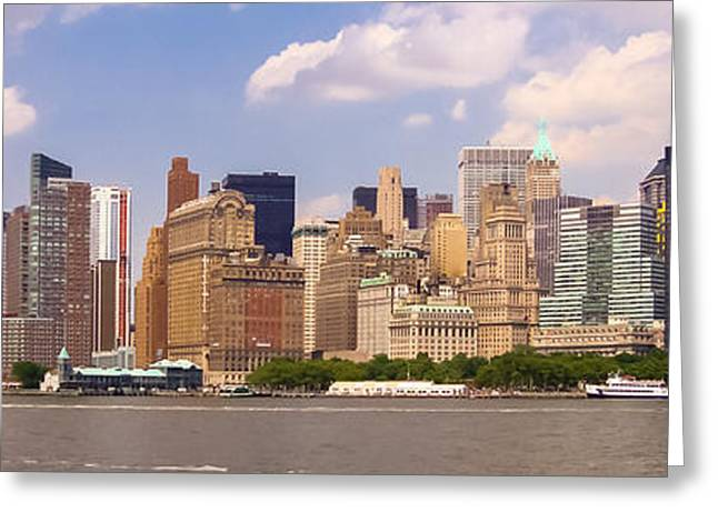 Consumerproduct Photographs Greeting Cards - Manhattan and the Hudson River Greeting Card by Alexandre Martins