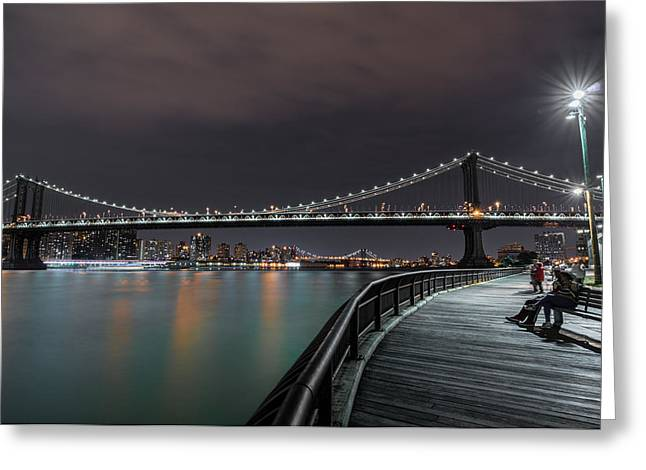 Manhattan Bridge - New York - Usa 2 Greeting Card by Larry Marshall
