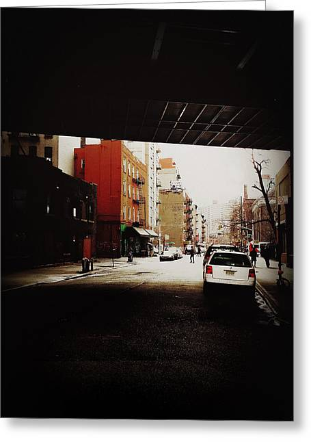 Iphoneography Greeting Cards - Manhattan Bridge Overpass - Chinatown - New York City Greeting Card by Vivienne Gucwa