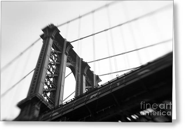Manhattan Greeting Cards - Manhattan Bridge Greeting Card by Tony Cordoza
