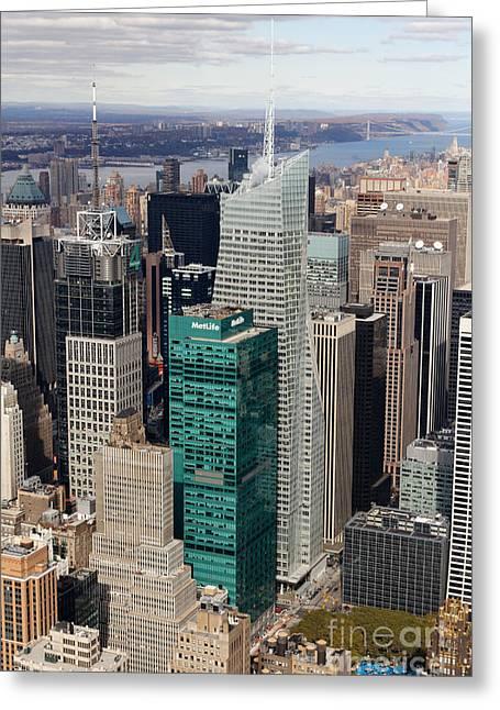 Bryant Park Greeting Cards - Manhattan Bryant Park Aerial Greeting Card by Jannis Werner