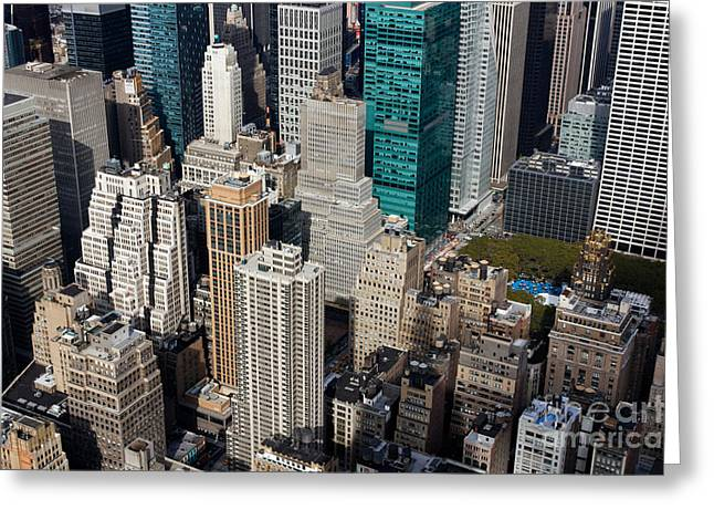 Manhattan Bryant Park Greeting Card by Jannis Werner