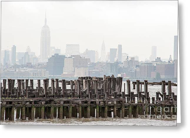River View Greeting Cards - Manhattan Calls II Greeting Card by Ray Warren