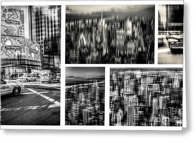 Manhattan Collection I Greeting Card by Hannes Cmarits