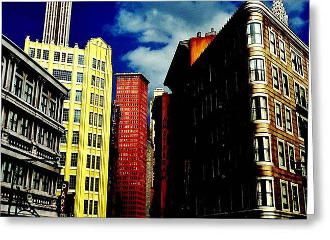 Manhattan Highlights Greeting Card by Benjamin Yeager