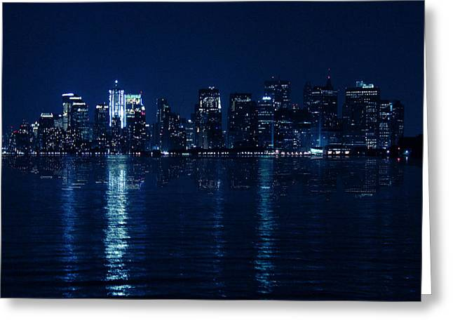 N.y. Greeting Cards - Manhattan Greeting Card by Mark Ashkenazi