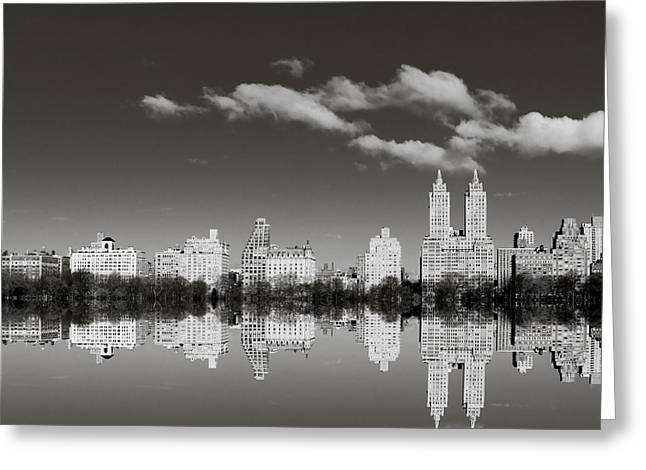 San Remo Greeting Cards - Manhattan Mirror Greeting Card by Irene Suchocki