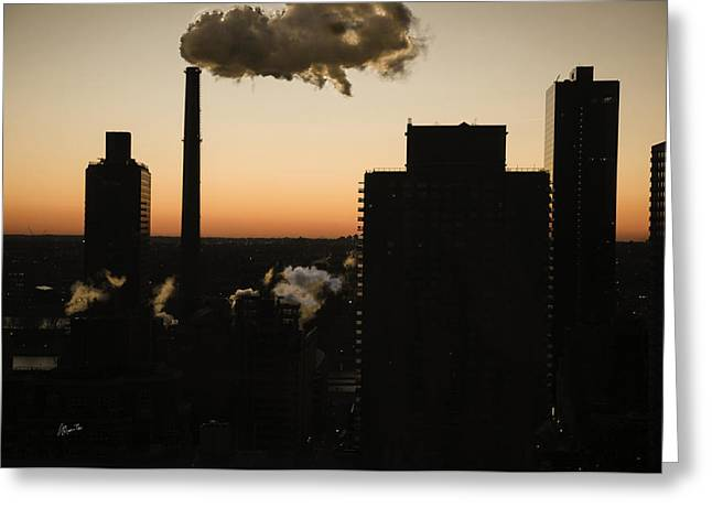 Morn Greeting Cards - Manhattan Dawn View - 2015 Greeting Card by Madeline Ellis