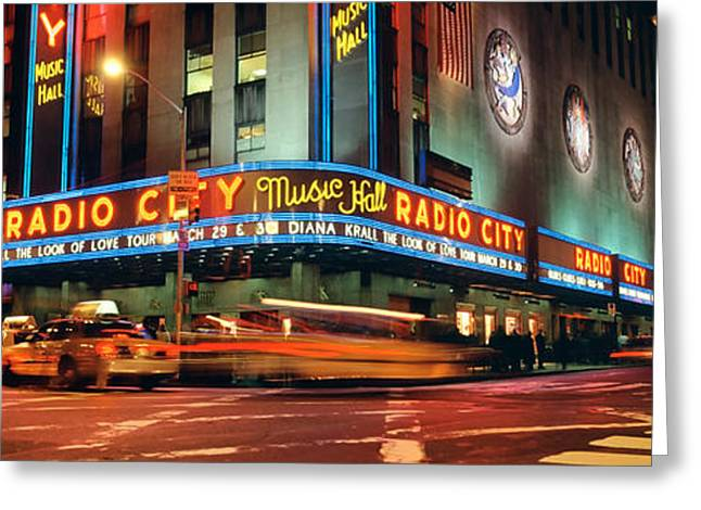 Music Photography Greeting Cards - Manhattan, Radio City Music Hall, Nyc Greeting Card by Panoramic Images