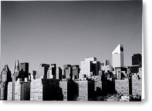 Manhattan Greeting Card by Shaun Higson